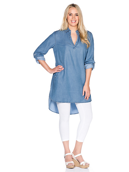 SHEEGO DENIM - sheego denim : Robe en jean