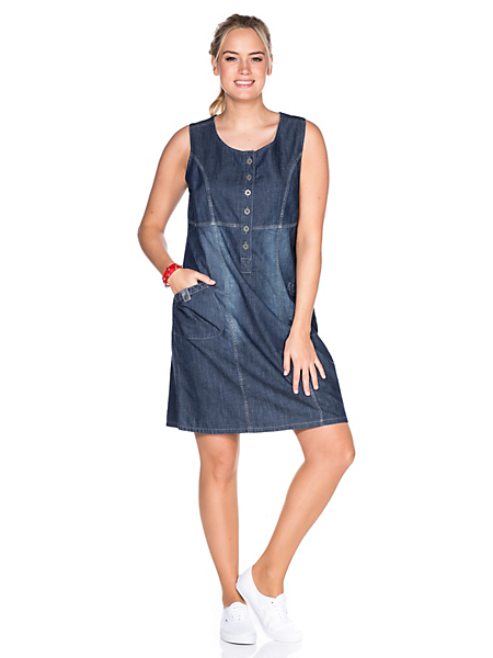 Sheego Casual - sheego Casual : Robe en jean