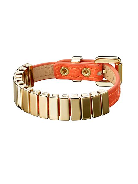 helline - Bracelet pour femme en cuir et métal, style tendance