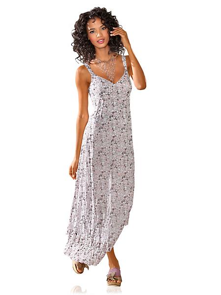 Linea Tesini - Robe longue estivale à imprimé floral, bretelles fines