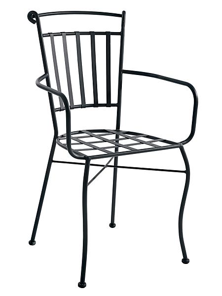 helline - Lot de 2 chaises design effet fer forgé empilables