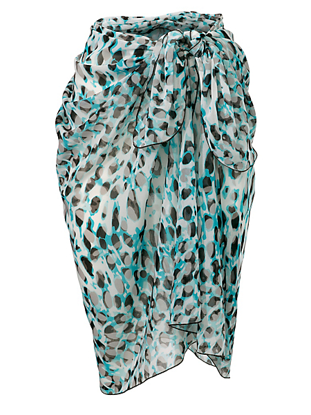 Class International Fx - Paréo de plage en voile imprimé léopard à nouer