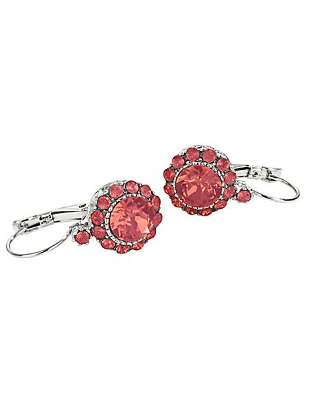 helline - Boucles d'oreilles pendantes en pierres scintillantes