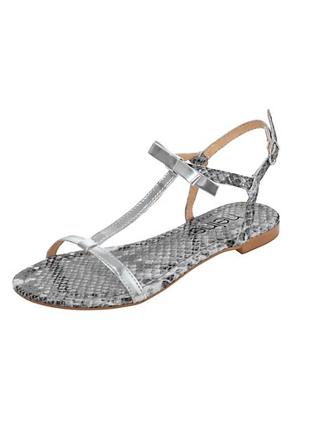 helline - Sandalettes plates en cuir nappa marquage serpent
