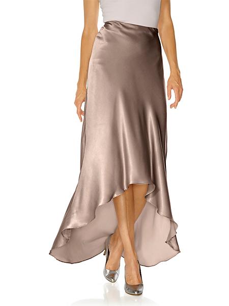 Ashley Brooke - Jupe longue élégante en satin, coupe asymétrique
