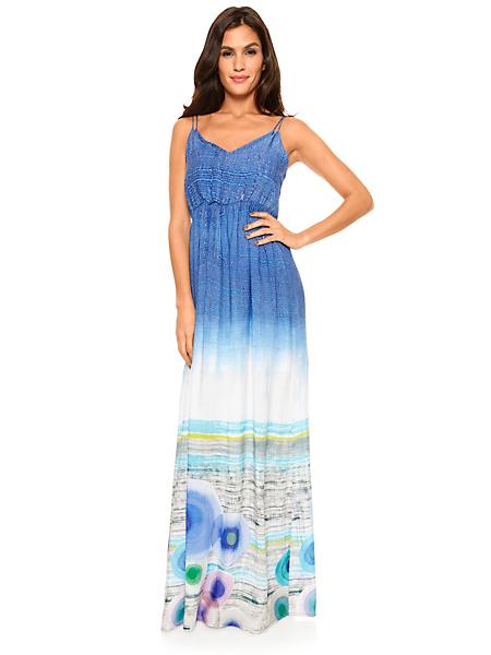 Desigual - Robe longue Desigual à imprimé plage et bretelles fines