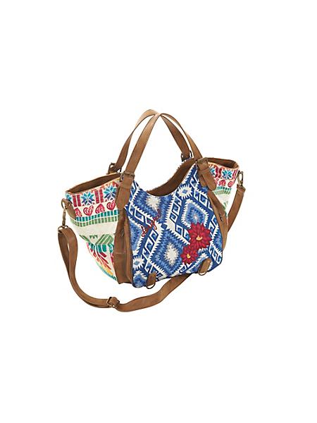 Desigual - Petit sac Desigual style original, tissu et simili cuir
