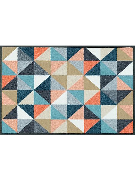 wash+dry by Kleentex - Paillasson antidérapant à imprimé triangle graphique