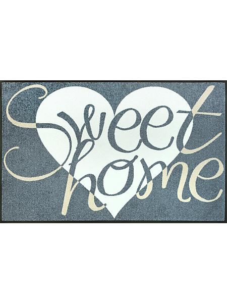 wash+dry by Kleentex - Paillasson élégant avec coeur et texte Sweet Home