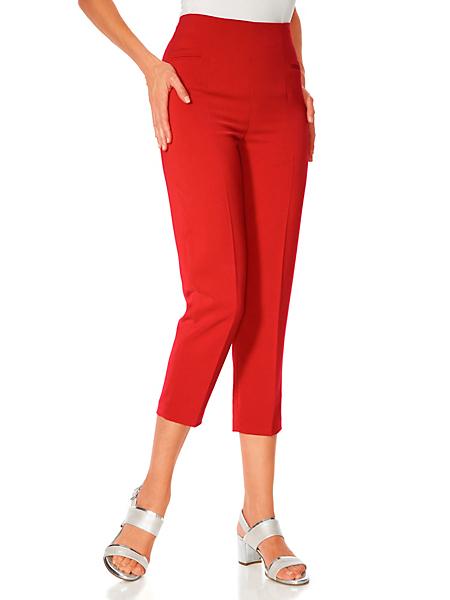 Ashley Brooke - Pantacourt classique à poches pour femme, taille haute