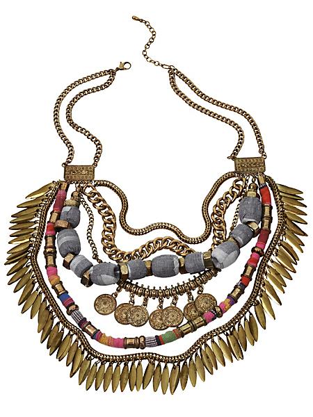 helline - Collier femme multi rangs original de style ethnique