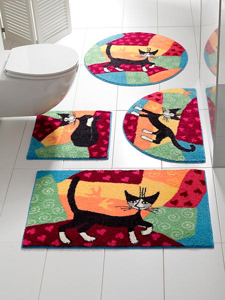 Efia (Salonlöwe) - Tapis de Bain Rosina Wachtmeister à motifs chats