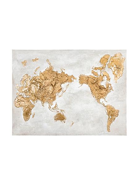 helline home - Véritable peinture 'mappemonde'