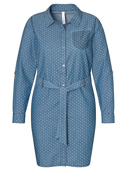 SHEEGO DENIM - sheego denim : Robe en jean mini