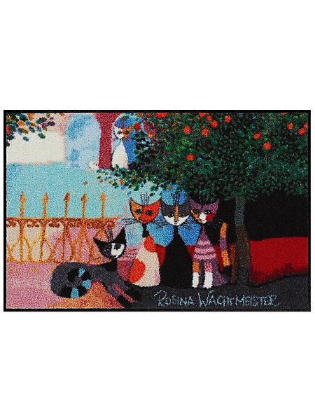 Efia (Salonlöwe) - Paillasson antidérapant illustré de chats en couleurs