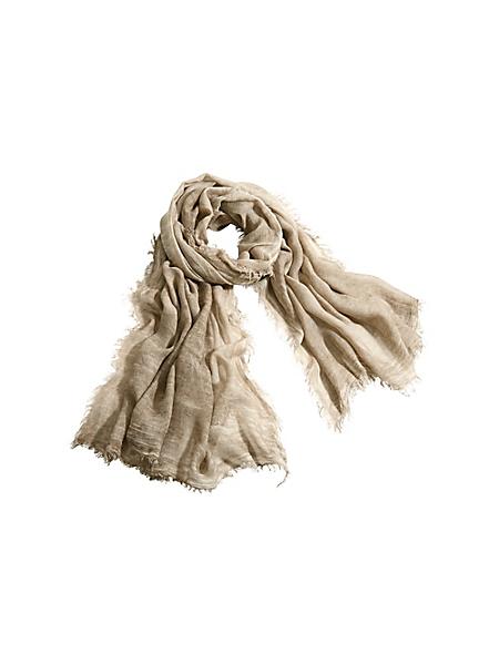 Collezione Alessandro - Echarpe unie en tissu doux et léger avec aspect usé