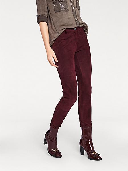 Rick Cardona - Pantalon en cuir velours tendance, coupe skinny