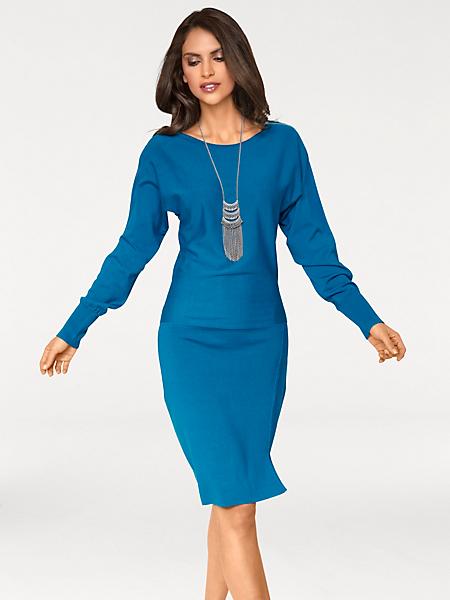 Ashley Brooke - Robe en tricot fin coupe fourreau à manches amples