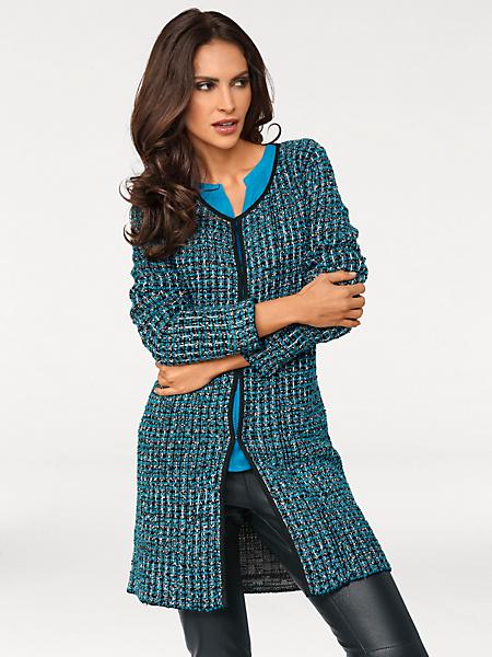 Ashley Brooke - Gilet épais en tricot chiné, fermeture à crochets