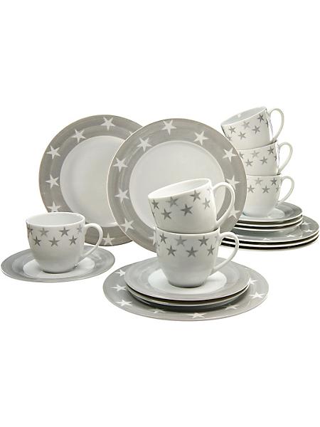 CREATABLE - Service à café, CreaTable en porcelaine, 18 pièces, »étoiles«