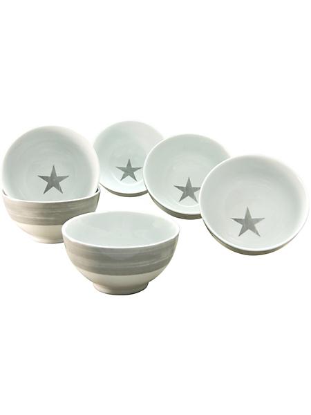 CREATABLE - Coupelles à müesli CreaTable en porcelaine, 6 pièces, »étoiles«