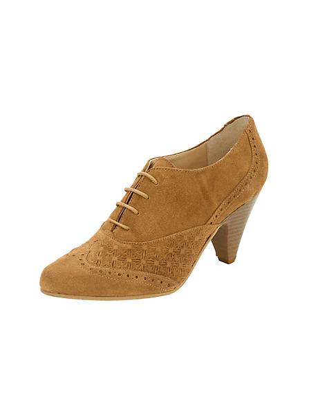 helline - Low boots tendance en cuir velours et lacets
