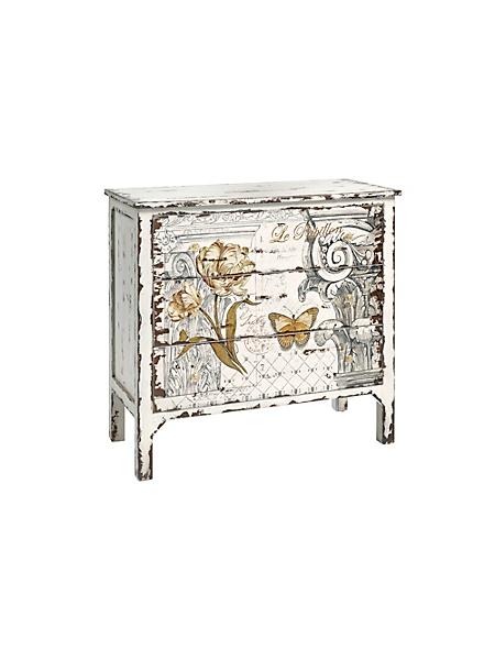 helline home - Commode en bois avec tiroirs, motif imprimé décoratif