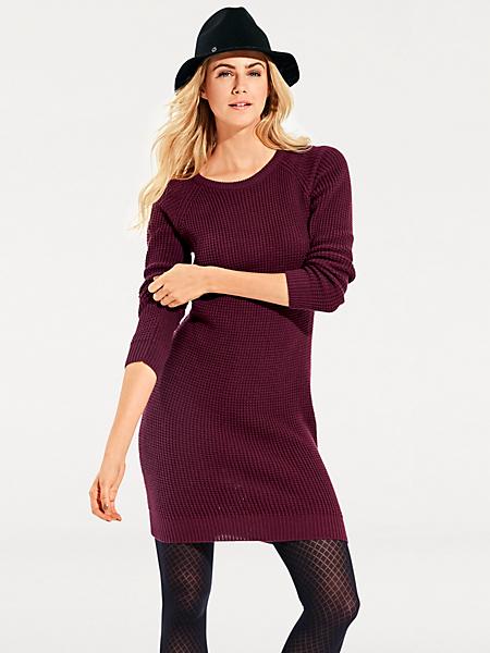 B.C. Best Connections - Robe pull en tricot uni, manches longues et col rond