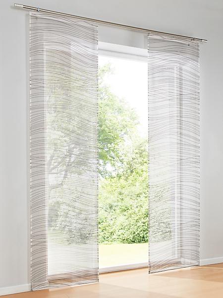 helline home - Rideau, panneau coulissant en textile transparent