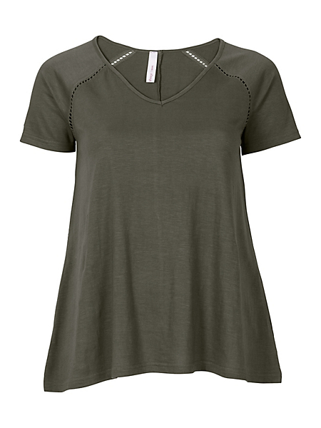 Sheego Casual - SHEEGO CASUAL T-shirt met ajourkant