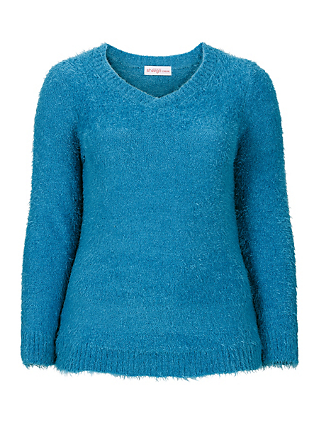 Sheego Casual - Pull-over en tricot moelleux Sheego Casual