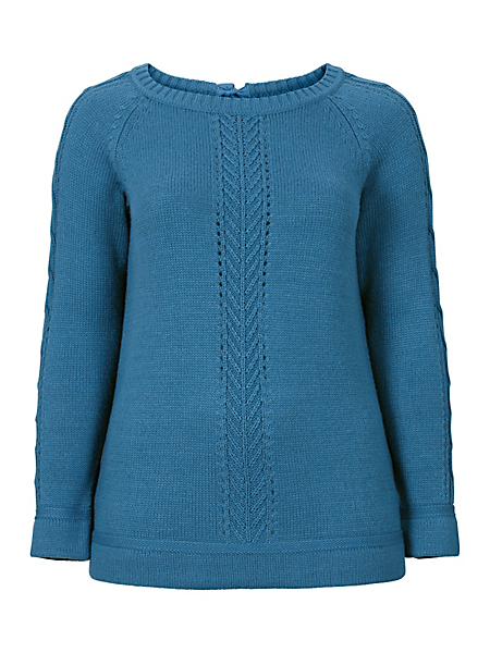 Sheego Casual - Pull-over au motif ajouré Sheego Casual