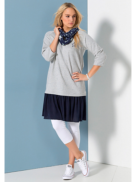 Sheego Casual - Robe en sweat aspect deux-en-un Sheego Casual