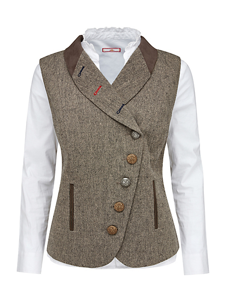 Joe Browns - Gilet en tweed avec teneur en laine Joe Browns