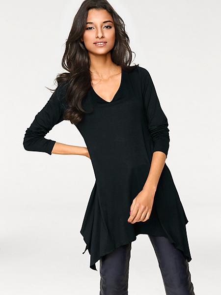 Patrizia Dini - T-shirt pour femme élégant à coupe longue asymétrique