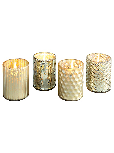 helline home - Photophores, lot de 4