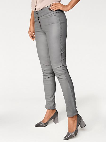 Patrizia Dini - Pantalon en cuir souple tendance, bas à pressions