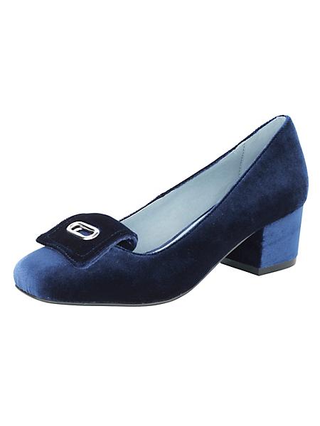 helline - Chaussures élégantes en velours à talons, boucle déco
