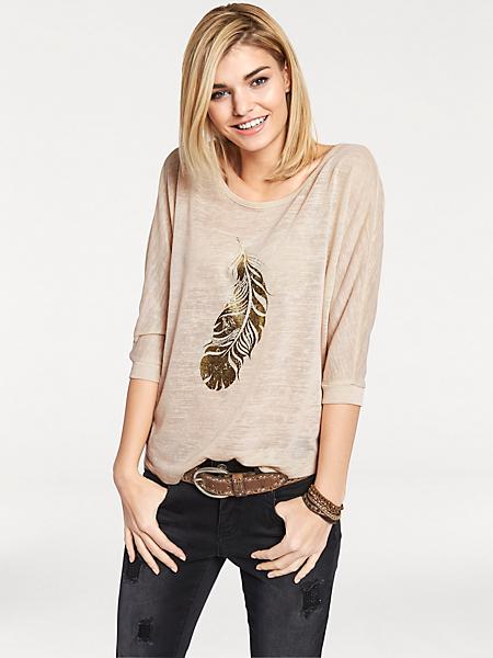 Rick Cardona - T-shirt ample et fluide pour femme avec imprimé mode