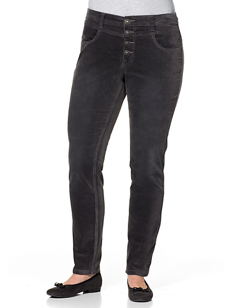 Sheego Casual - Pantalon étroit en velours extensible Sheego Casual