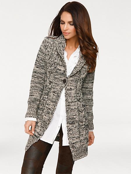 Ashley Brooke - Gilet long en tricot