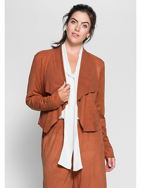 Sheego Style - Blazer sheego Style en synthétique aspect peau velours