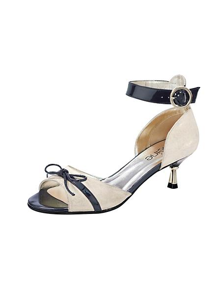 helline - Sandale bicolore à petits talons et brides