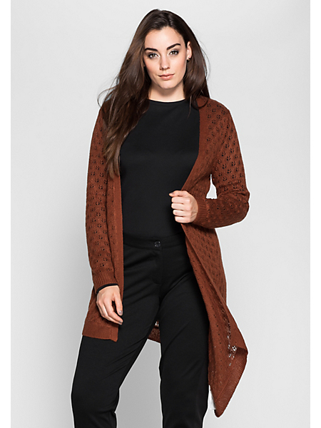 Sheego Style - Cardigan sheego Style en tricot ajouré