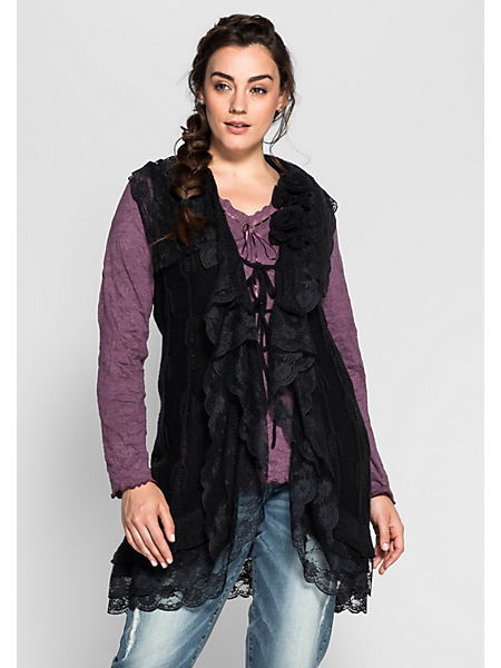 Joe Browns - Gilet en tricot Joe Browns avec voile en dentelle