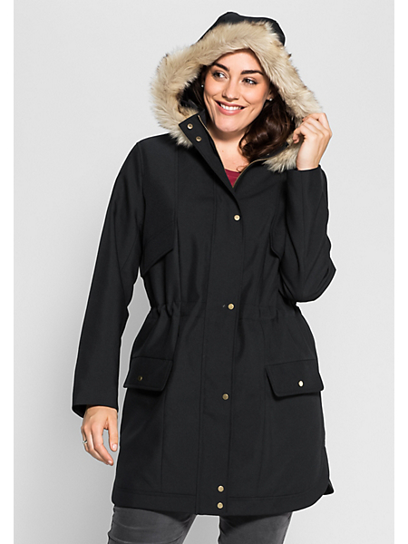 Sheego Casual - SHEEGO CASUAL lange parka met capuchon