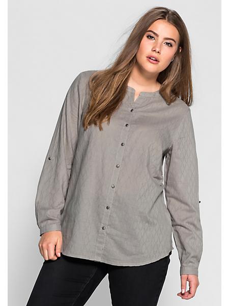 Sheego Casual - SHEEGO CASUAL blouse van gestructureerde weefstof