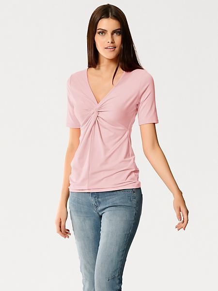 Patrizia Dini - T-shirt uni décolleté pour femme, style tendance