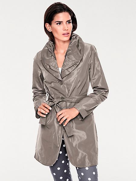 Ashley Brooke - Manteau femme type trench-coat, grand col