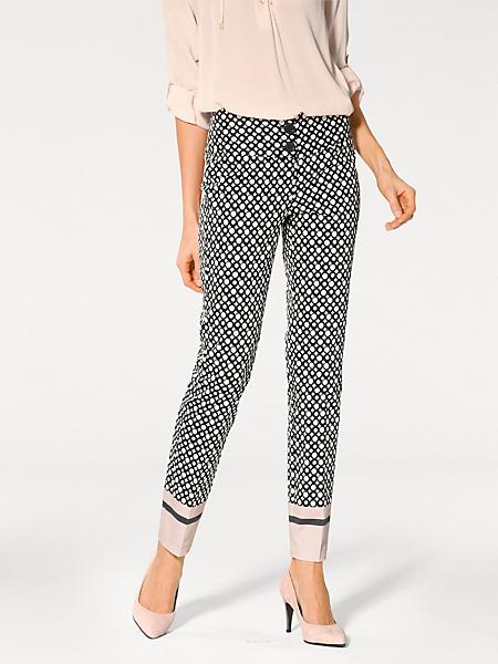 Ashley Brooke - Pantalon imprimé amincissant à motifs géométriques
